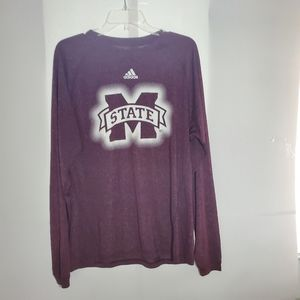 Mississippi  State Adidas ClimaLite Tee